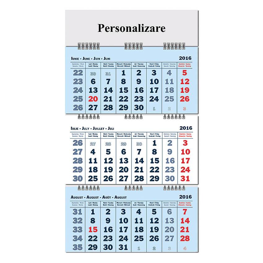 iulie 2016 calendar
